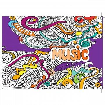 A&G PAPER ΤΕΤΡΑΔΙΟ ΜΟΥΣΙΚΗΣ Β5 40 ΦΥΛΛΑ MUSIC