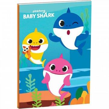 GIM ΤΕΤΡΑΔΙΟ BABY SHARK 17*25 40Φ GIM 334-63400