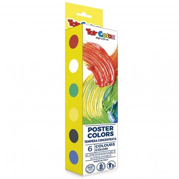 TOYCOLOR ΤΕΜΠΕΡΕΣ 25ml POSTER COLORS 6 ΧΡΩΜΑΤΑ TOY COLOR 220.536