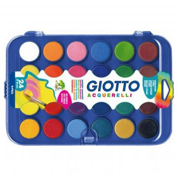 GIOTTO ΝΕΡΟΧΡΩΜΑΤΑ 24τεμ*30mm ΜΕ ΠΙΝΕΛΟ GIOTTO