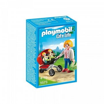 PLAYMOBIL PLAYMOBIL ΜΑΜΑ ΜΕ ΔΙΔΥΜΑ ΚΑΙ ΚΑΡΟΤΣΑΚΙ 5573