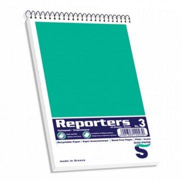 SKAG HELLAS ΜΠΛΟΚ REPORTERS SPIRAL ΛΕΥΚΟ SKAG 105*178 Ν3