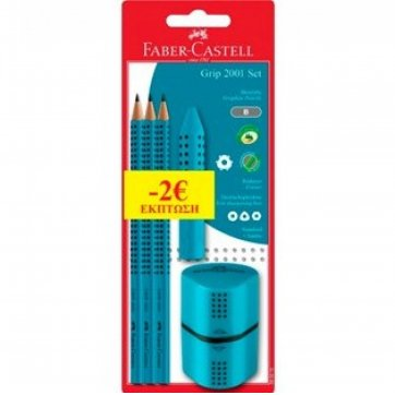 FABER - CASTELL ΣΕΤ FABER - CASTELL GRIP 2001 12309762 TYRKOYAZ