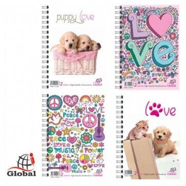 Global ΤΕΤΡΑΔΙΟ ΘΕΜΑΤΩΝ 2Θ Α4 GLOBAL LOVE
