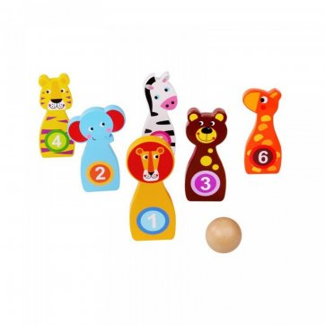 TOYCOLOR BOWLING ΖΩΑΚΙΑ ΞΥΛΙΝΟ TOOKY TOY