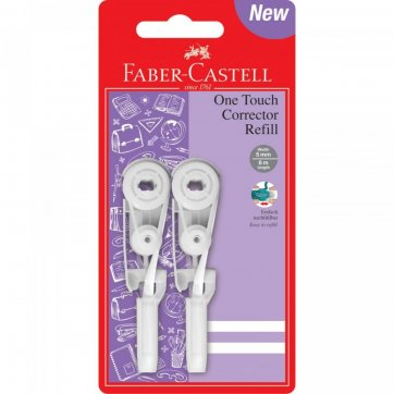 FABER - CASTELL ΔΙΟΡΘΩΤΙΚΟ ΤΑΙΝΙΑ FABER-CASTELL 2τεμ ΑΝΤΑΛΛΑΚΤΙΚΗ ΤΑΙΝΙΑ 5mm*6m