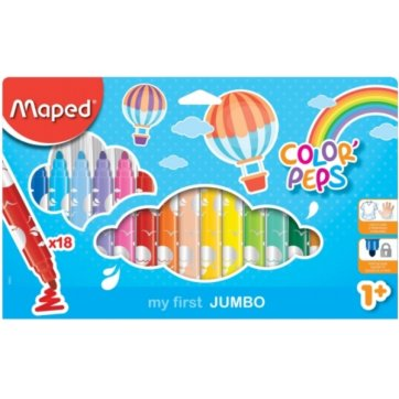 MAPED ΜΑΡΚΑΔΟΡΟΙ 18τεμ ΧΟΝΤΡΟΙ MY FIRST JUMBO COLOR PEPS 1+